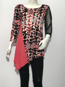 Color Block Print Tunic - americanfashion2