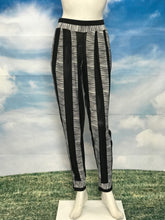 Black White Stripe High Waisted Slim Pants - americanfashion2