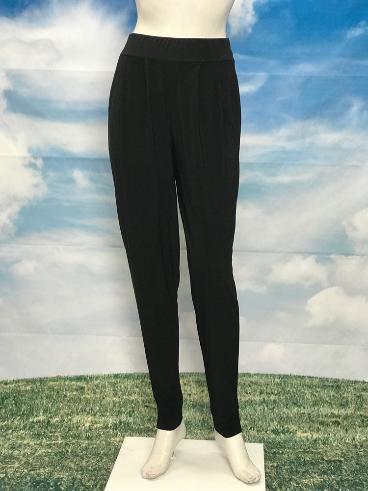 Black High Waisted Slim Pants with Pockets - americanfashion2