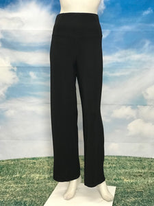 Black High Waisted Wide Legs Pants - americanfashion2