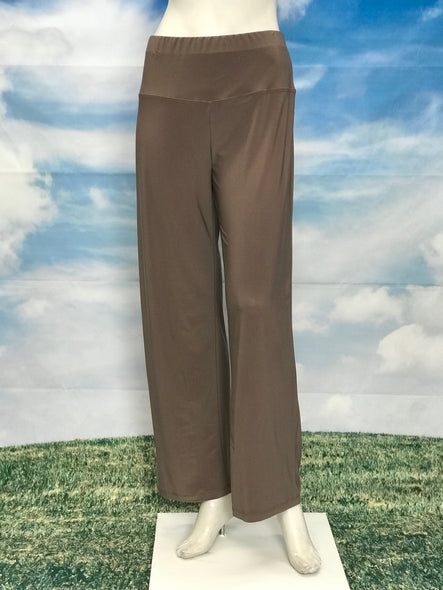 Mocha High Waisted Wide Legs Pants - americanfashion2