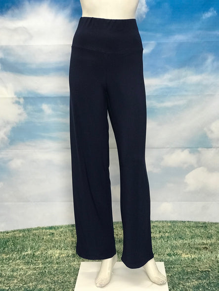 Navy High Waisted Wide Legs Pants - americanfashion2