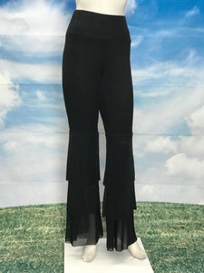 High Waisted Pants Cascade Mesh Pants - americanfashion2
