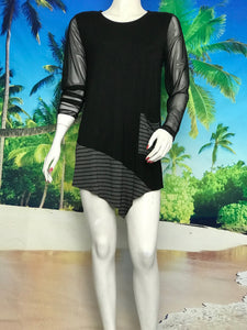 Mesh Sleeve Tunic - americanfashion2