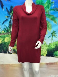 Cowl Neck Tunic - americanfashion2