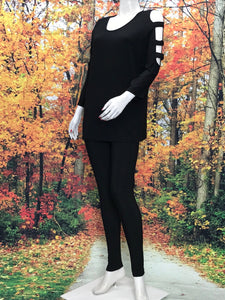 Divided Sleeve Tunic 3/4 Sleeve - americanfashion2