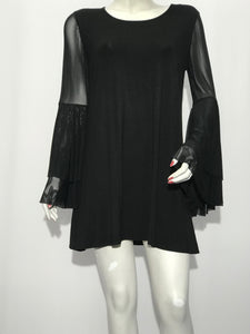 Ruffle Sleeve Tunic - americanfashion2
