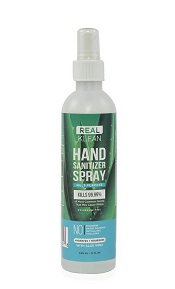 Real Klean Aloe Vera Hand Sanitizer Spray/27 Bottle