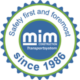 Safety First and Foremost Since 1986 - MIM Construction Logo