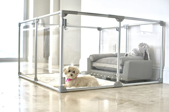 Clearly Loved Pets Medium Lucidium Clear Dog Pen-Dog Enclosure-Pet's Choice Supply