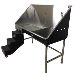 Groomer's Best ADA Compliant Stainless Steel Elite Dog Grooming Bath Tub w/ Lift & Slide Steps-Grooming Tub-Pet's Choice Supply