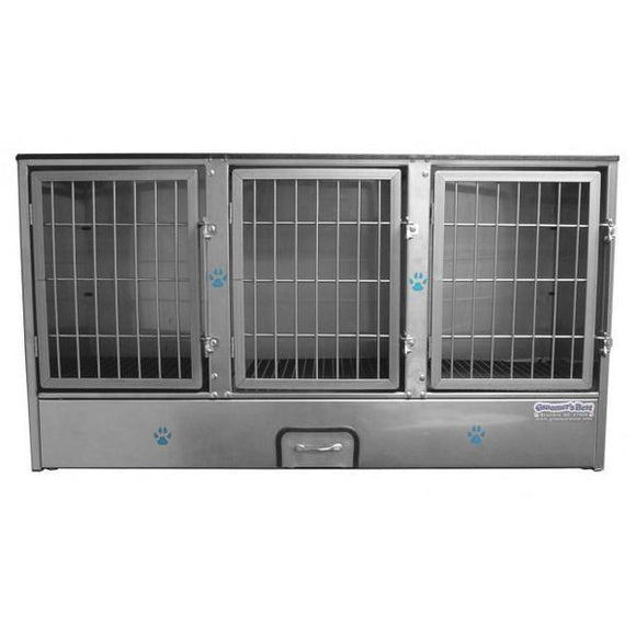 Groomer's Best Stainless Steel Multiple Unit Cage Bank-Grooming Cage Bank-Pet's Choice Supply