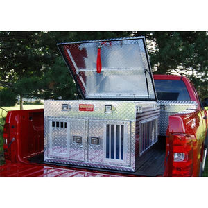 Owens Hunter Series Dual-Compartment All Seasons Aluminum Dog Box-Dog Box-Pet's Choice Supply