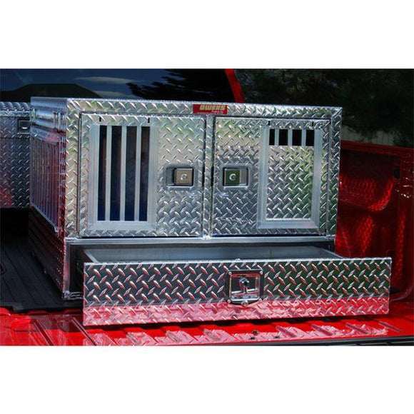 Owens Pro Hunter Aluminum Double Dog Box-Dog Box-Pet's Choice Supply