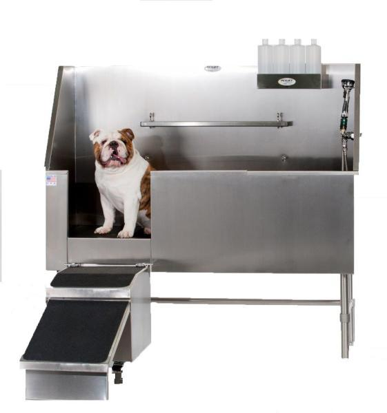 PetLift Aqua Quest Stainless Steel Walk-In Dog Grooming Bath Tub-Grooming Tub-Pet's Choice Supply