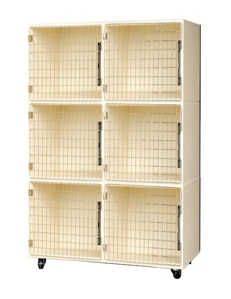 PetLift Veterinary & Grooming Laminated Six (6) Cage Assembly 48
