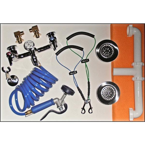 Poly Pet Tub Plumbing Accessories Package-Grooming Tub Parts-Pet's Choice Supply