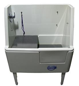 "Ultra Lift 3 Side Splash Space Saver 36"" Stationary Pet Wash - Dog Grooming Tub-Grooming Tub-Pet's Choice Supply"