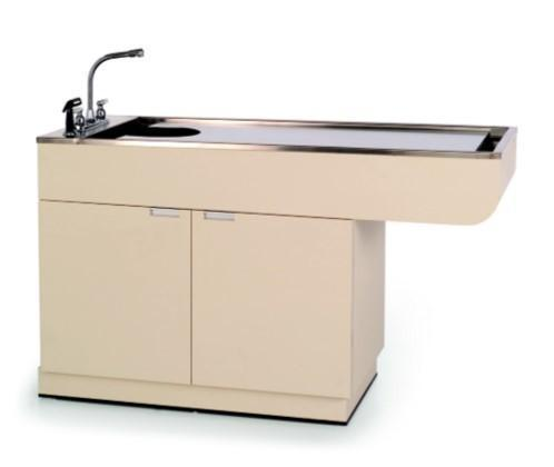 VetLine Veterinary All Purpose Wet Table w/ Cabinet & Knee Space-Veterinary Wet Table-Pet's Choice Supply
