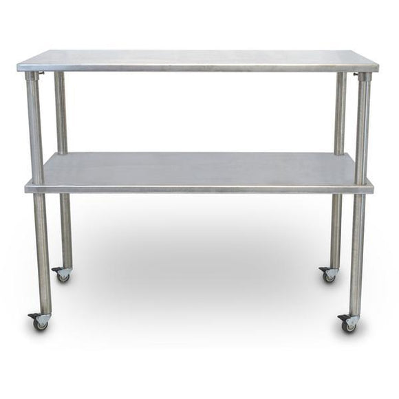 Vet's Best Stainless Steel Veterinary Mobile Utility Table w/ Shelf-Veterinary Utility Table-Pet's Choice Supply