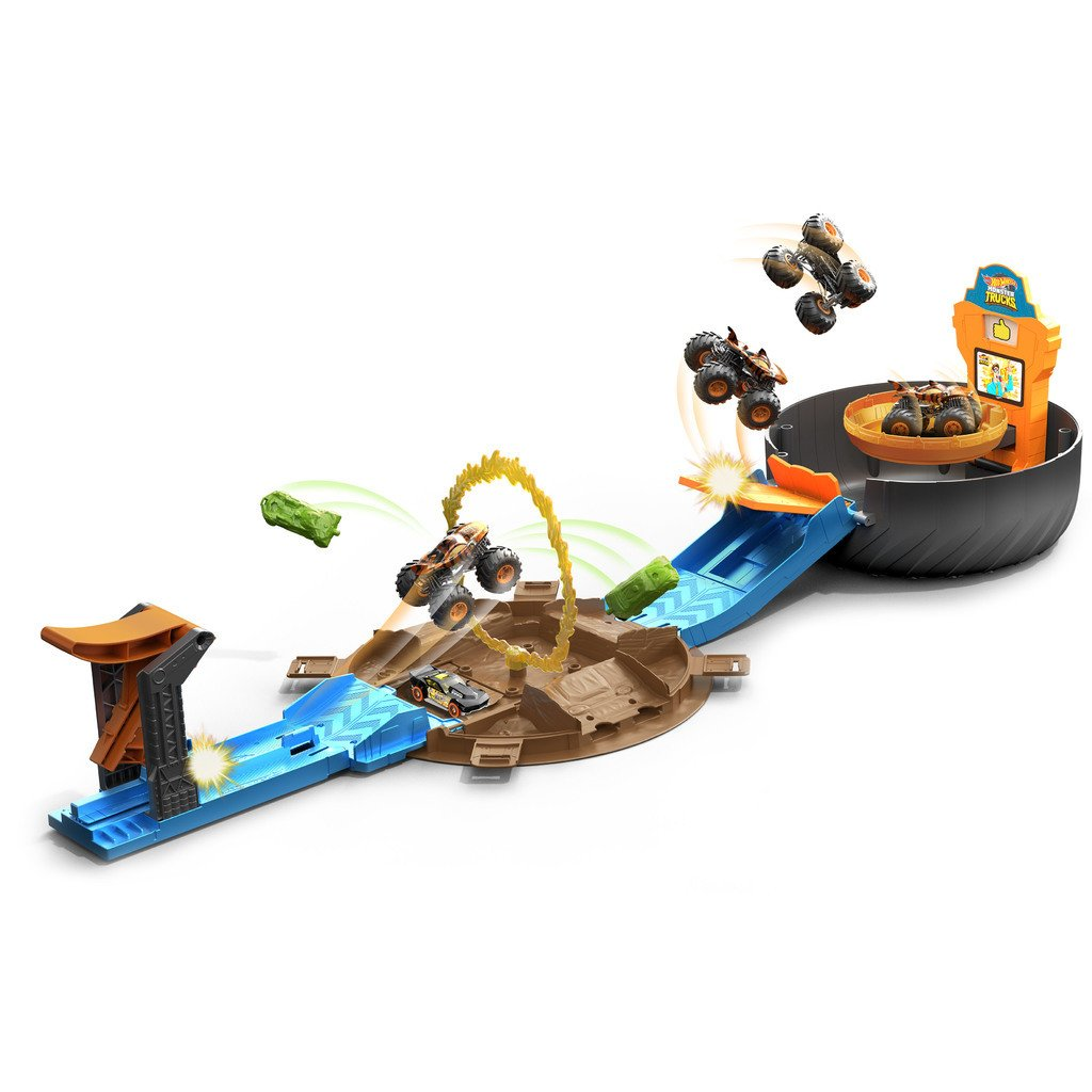 HOT WHEELS MONSTER TRUCKS STUNT TIRE LEKSET