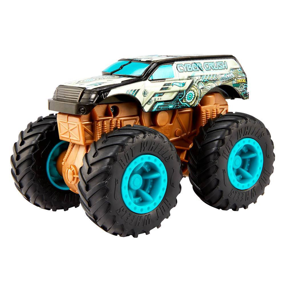 HOT WHEELS MONSTER TRUCK BASH UPS CYBER CRUSH