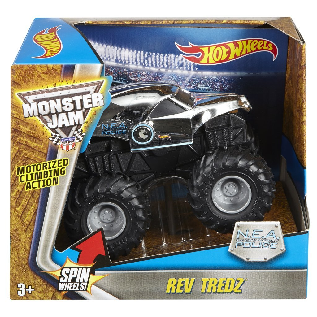 HOT WHEELS REV TREDZ MONSTERBIL POLICE