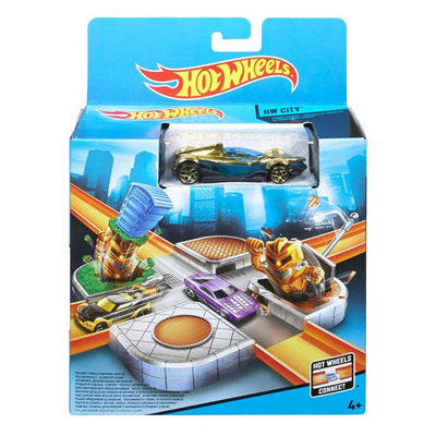 HOT WHEELS STUNT PLAYSET- CYBORG CROSSING