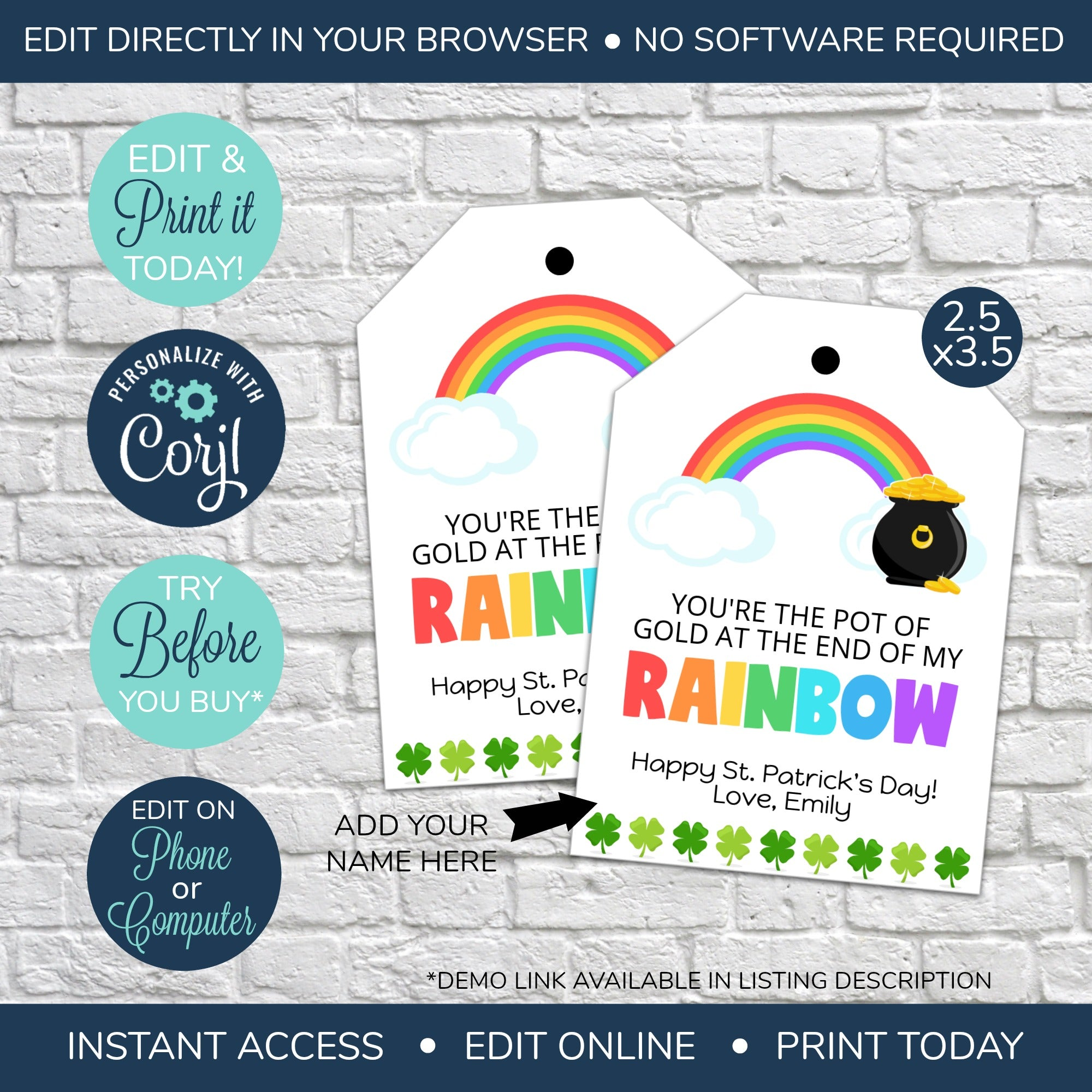You/'re the pot of gold Patrick/'s Day Gift Card Holder Patrick/'s Day Gift St St Saint Patrick/'s Printable Thank You Gift Card Holders