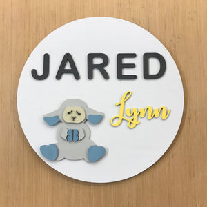 "24"" Round Name Sign"