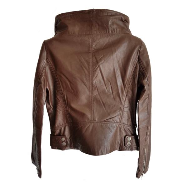Brown Leather Jacket back