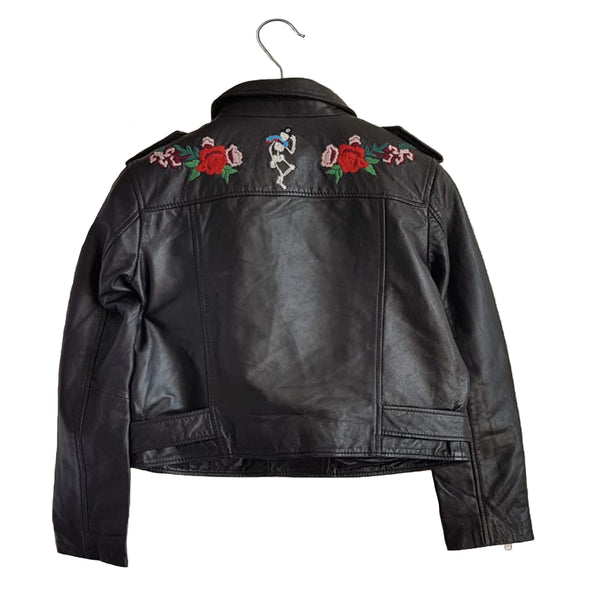 Embroidered Leather Jacket - Sold Out!