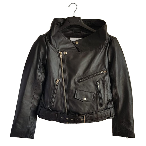 Black Moto Leather Jacket - Sold Out!
