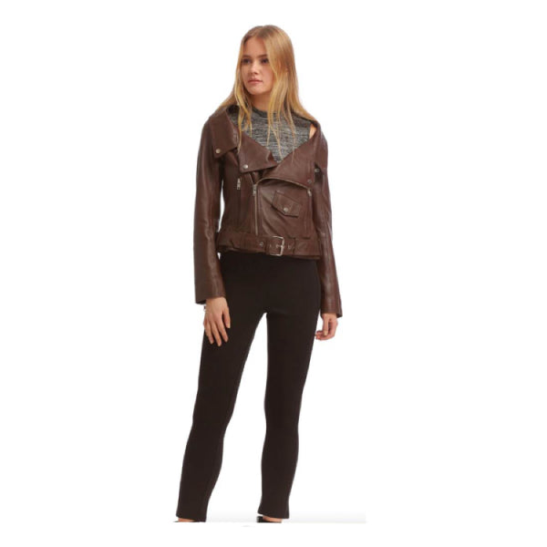 Brown Leather Jacket model