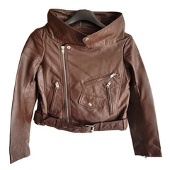 Choco Moto Leather Jacket - Sold Out!