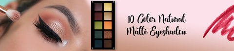 10 Color Natural Matte Eyeshadow