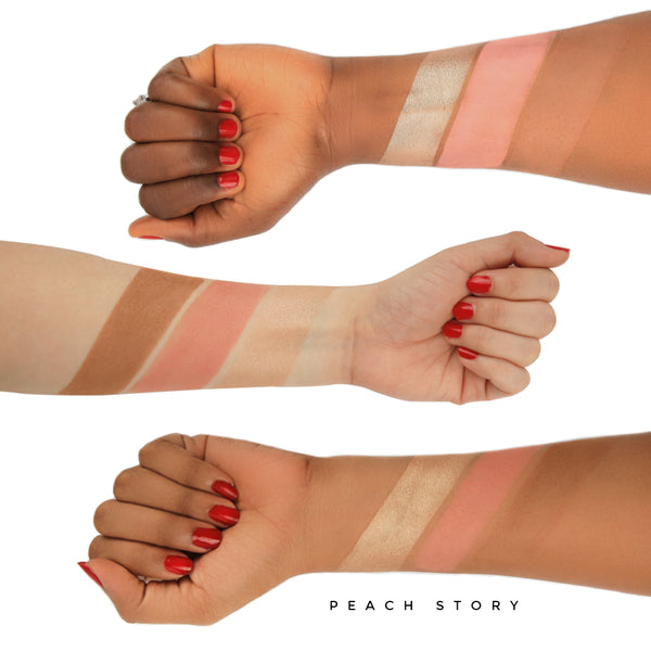 X Leena SIGNATURE COLLECTION (Peach story Blush Palette + Pink story Blush Palette) - LBB03