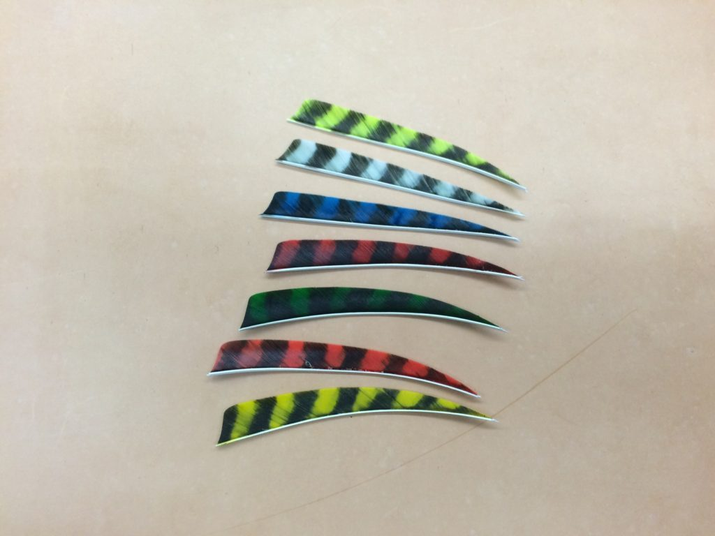 "Barred ""Shield Cut"" Trueflight Feathers"