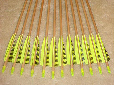 60-65# Falcon Arrows – cedar, florescent lime