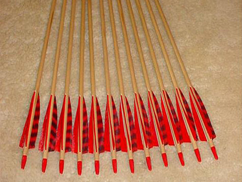 50-55# Falcon Arrows –Sitka Spruce, red