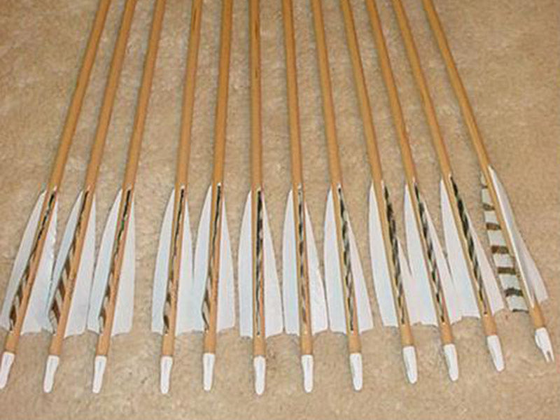 40-45# Falcon Arrows – Sitka Spruce, gray bar/white