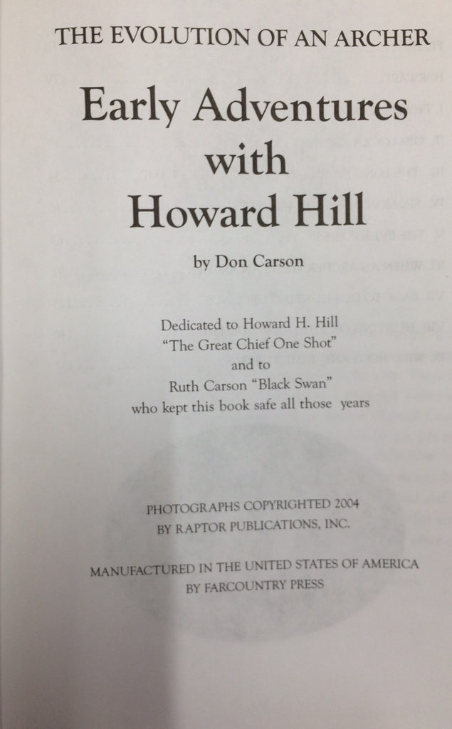 Early Adventures with Howard Hill