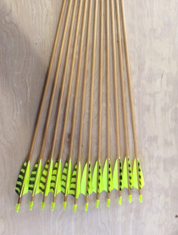 35-40# Falcon Arrows – Cedar, Flo lime.
