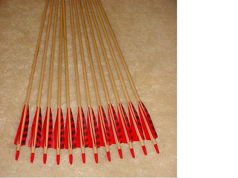 50-55 Falcon Arrows- Cedar, red