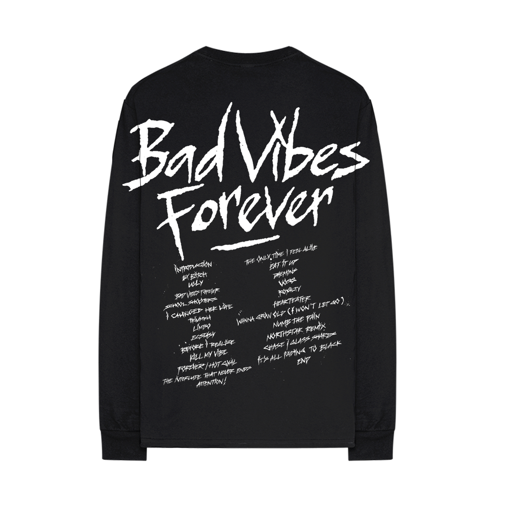 BAD VIBES FOREVER TRACKLIST LONG SLEEVE + DIGITAL ALBUM