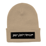 TAN BAD VIBES FOREVER BEANIE + DIGITAL ALBUM