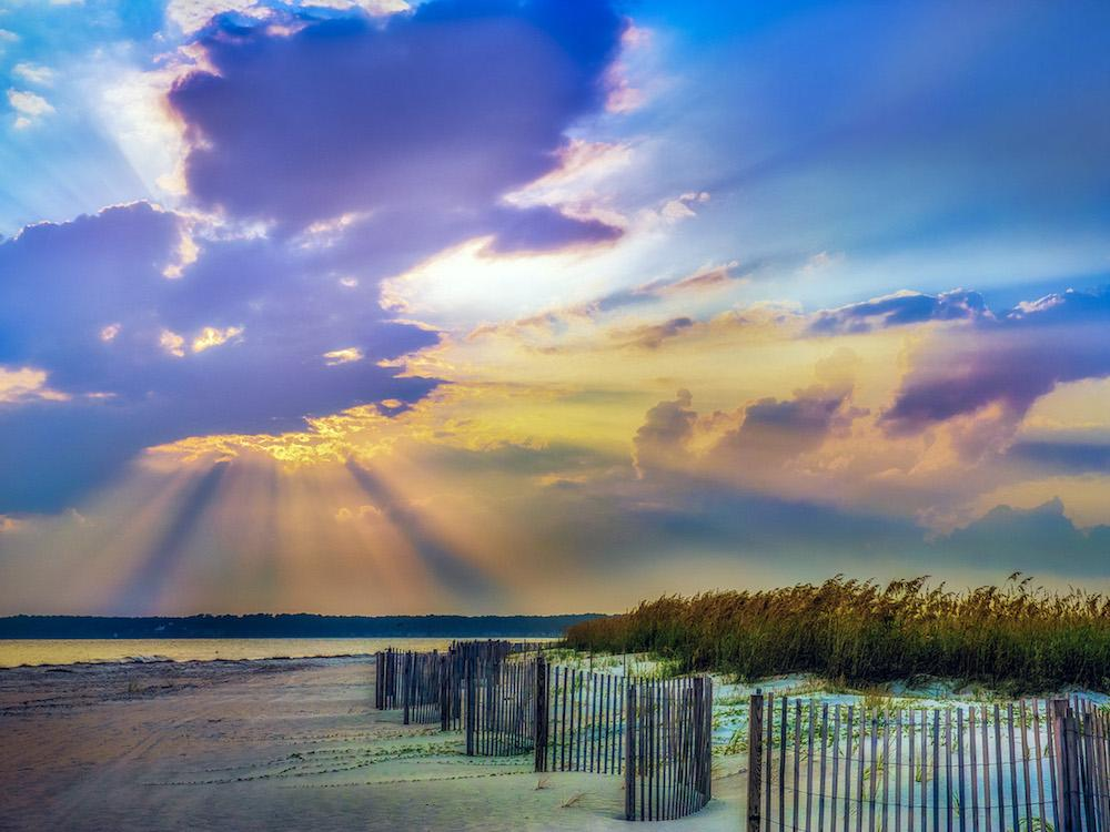 Hilton Head Island - Sun burst through the clouds