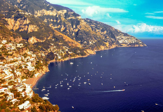 Italy - The coast line and Mediterranean sea