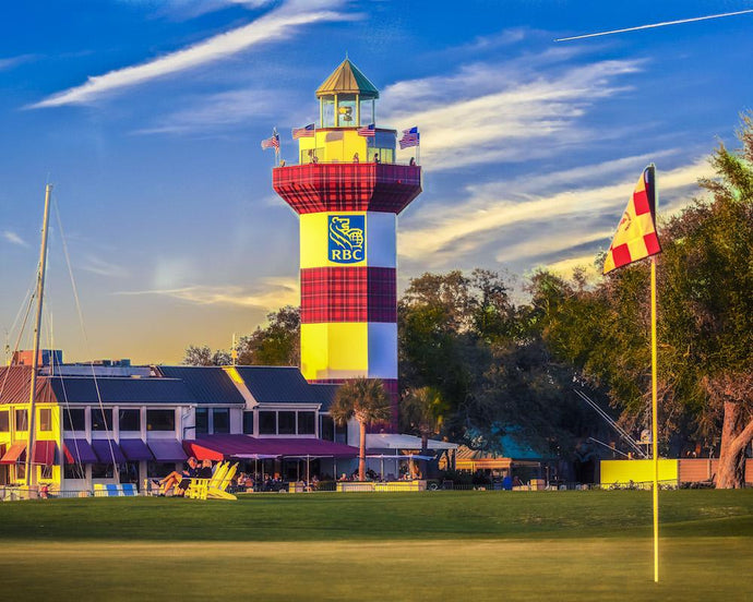 Head Island Island - 18th Green and RBC Heritage Lighthouse