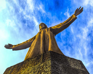 Spain - Christ overlooking Barcelona